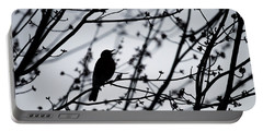 Portable Battery Charger featuring the photograph Song Bird Silhouette by Terry DeLuco