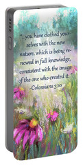 Song Of The Flowers With Bible Verse Portable Battery Charger