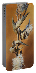 Song Sparrow And Milkweed Portable Battery Charger