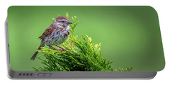 Song Sparrow Perched - Melospiza Melodia Portable Battery Charger