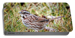 Portable Battery Charger featuring the photograph Song Sparrow Sweetie by Kerri Farley