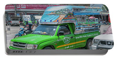 Portable Battery Charger featuring the photograph Songthaew Minibus by Antony McAulay