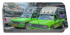 Portable Battery Charger featuring the photograph Songthaew Taxi by Antony McAulay