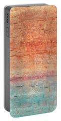 Sonoran Desert #1 Southwest Vertical Landscape Original Fine Art Acrylic On Canvas Portable Battery Charger