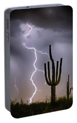 Portable Battery Charger featuring the photograph Sonoran Desert Monsoon Storming by James BO Insogna