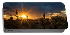 Portable Battery Charger featuring the photograph Sonoran Gold At Sunset  by Saija Lehtonen