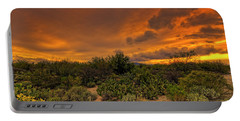 Portable Battery Charger featuring the photograph Sonoran Sunset H4 by Mark Myhaver
