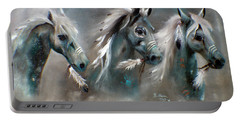 Portable Battery Charger featuring the painting Sons Of Thunder Spirit by Barbie Batson