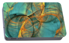 Portable Battery Charger featuring the digital art Soothing Blue by Deborah Benoit