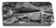 Soothing Colorado Monochrome Wilderness Portable Battery Charger by James BO Insogna