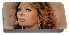 Sophia Loren 3 Portable Battery Charger by Paul Meijering