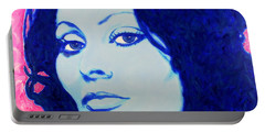 Sophia Loren Pop Art Portrait Portable Battery Charger