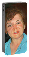 Portable Battery Charger featuring the painting Sophie by Marlene Book