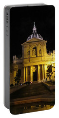 Portable Battery Charger featuring the photograph Sorbonne Night by Christopher Kirby