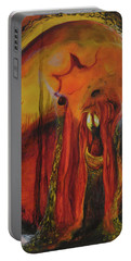 Portable Battery Charger featuring the painting Sorcerer's Gate by Christophe Ennis