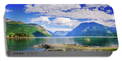 Portable Battery Charger featuring the photograph Soreimsfjorden by Dmytro Korol