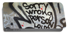 Sorry Wrong Person Portable Battery Charger