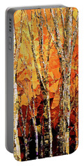 Portable Battery Charger featuring the painting Soul Of The Earth by Tatiana Iliina