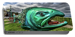 Soul Salmon In Hdr Portable Battery Charger by Rob Green