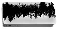 Sound Waves Made Of Trees Reflected Portable Battery Charger