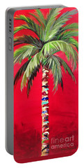 South Beach Palm II Portable Battery Charger by Kristen Abrahamson