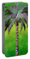 South Beach Palm IIi Portable Battery Charger by Kristen Abrahamson