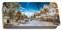 Portable Battery Charger featuring the photograph South Beach Road by Melinda Ledsome