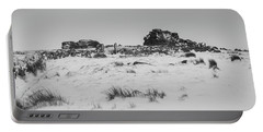 South Hessary Tor In The Snow Portable Battery Charger