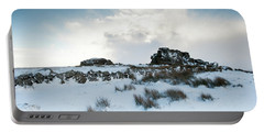 South Hessary Tor In The Snow II Portable Battery Charger