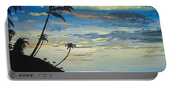 Portable Battery Charger featuring the painting South Sea Sunset by Norm Starks