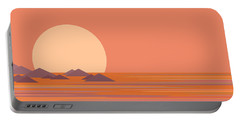 Portable Battery Charger featuring the digital art South Sea by Val Arie