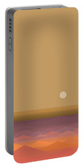 Portable Battery Charger featuring the digital art South Seas Sunrise - Vertical by Val Arie