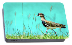 Southern Lapwing Portable Battery Charger by Randy Scherkenbach