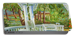 Southern Porches Portable Battery Charger by Margaret Harmon