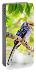 Southern Yellow Billed Hornbill Portable Battery Charger by Alexey Stiop