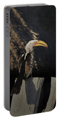 Portable Battery Charger featuring the digital art Southern Yellow Billed Hornbill by Ernie Echols