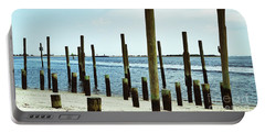Southport Beach Weathered Wood Portable Battery Charger