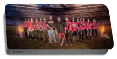 Portable Battery Charger featuring the digital art Southwest Aztecs Baseball Organization by Nicholas Grunas