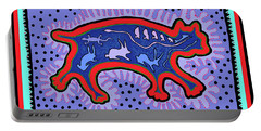 Portable Battery Charger featuring the digital art Southwest Desert Feral Cat by Vagabond Folk Art - Virginia Vivier
