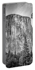 Southwest Face Of El Capitan From Yosemite Valley Portable Battery Charger