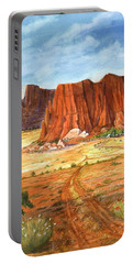 Portable Battery Charger featuring the painting Southwest Red Rock Ranch by Marilyn Smith