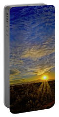 Portable Battery Charger featuring the digital art Southwest Sunset Op40 by Mark Myhaver