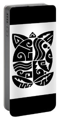 Portable Battery Charger featuring the digital art Southwest Tribal Tortuga by Vagabond Folk Art - Virginia Vivier