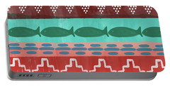 Southwest With Fish- Art By Linda Woods Portable Battery Charger