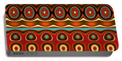 Southwestern Colors Pattern Portable Battery Charger by Jessica Wright