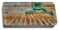 Soybean Harvest Fremont County Iowa Portable Battery Charger