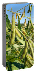 Soybeans In Autumn Portable Battery Charger