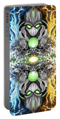 Space Alien Time Machine Fantasy Art Portable Battery Charger