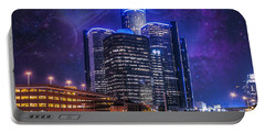 Portable Battery Charger featuring the photograph Space Detroit by Nicholas  Grunas
