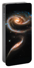 Space Image Galaxy Rose Portable Battery Charger